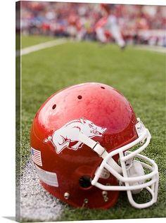 Arkansas Razorbacks football helmet