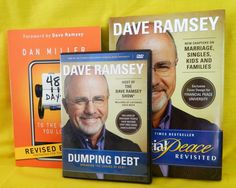 Dave Ramsey Dumping Debt DVD, Financial Peace Revisited, 48 Days / Work you Love