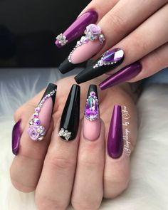 Probably The Best Nail Stickers Brands Out There – My hair and beauty Bright Red Nails, Purple Nails, Bling Nails, Glitter Nails, Long Nail Designs, Gel Designs, Nail Art Designs, Fabulous Nails, Gorgeous Nails