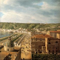 giovanni battista lusieri - a view of the bay of naples (detail)