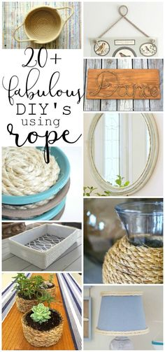 A fun roundup of fabulous DIY ideas using rope that anybody can make!