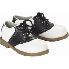 Saddle shoes! Had a pair of these and heavy forbid you ever got kicked in the chins with someone wearing these! Ouch!