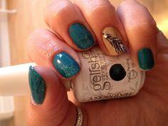 Gelish nails loving the turquoise