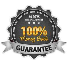 30 Day 100% Money Back Guarantee - Personal Promise