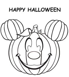 Mickey Mouse Pumpkin Coloring Pages Picture