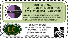 Coupon in Waunakee WI for Waunakee Rental from Local Coupons LLC.