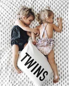 Emma and Mila= twins Twin Girls, Twin Babies, Cute Babies, Baby Kids, Toddler Twins, Taytum And Oakley, Toddler Pillowcase, Personalized Pillow Cases, Foto Baby