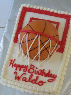 Basketball Cake All buttercream. Basketball Cookies, Basketball Crafts, Basketball Posters, Basketball Workouts, Basketball Quotes, Basketball Hoop, Basketball Birthday Parties, Sport Cakes, Superhero Cake