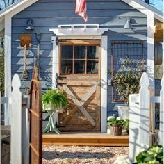 Rustic outdoor potting shed - love all the tools on display eclecticallyvintage.com