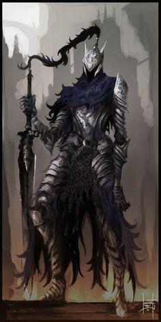 Knight Artorias Enjoy~ i'm going to try to upload 2 pics a week for the Dark Souls art Pack! Sif Dark Souls, Dark Souls Artorias, Arte Dark Souls, Fantasy Art Men, Fantasy Armor, Fantasy Character Design, Character Art, Soul Saga, Warframe Art