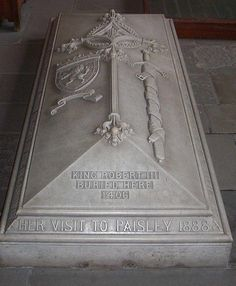 "Grave of King Robert ""the Bruce"" of Scotland"