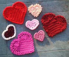 Easy Crochet Hearts