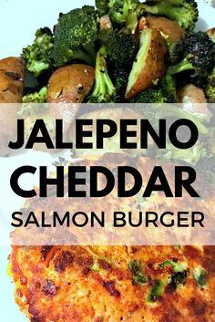 Jalepeno Cheddar Salmon Burgers