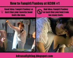 How to Fangirl/Fanboy at KCON #1: Good Idea, Bad Idea #kdramafighting #kdramahumor