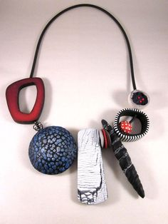 Auction item 'Sampler Necklace  by Bettina Welker   Germany' hosted online at…