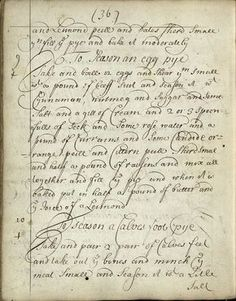 starrydiadems:A recipe for egg mince pies from 1710.