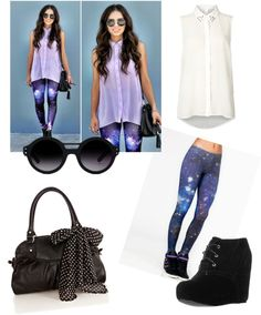 """Galaxy Outfit"" by jackielaguerre ❤ liked on Polyvore"