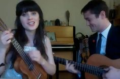 Zooey Deschanel and Joseph Gordon-Levitt sing 'What Are You Doing New Year's Eve?' (Nancy Wilson)