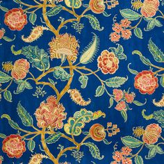 The G0311 Midnight Blue upholstery fabric by KOVI Fabrics features Floral, Paisley pattern and Blue as its colors. It is a Cotton, Print type of upholstery fabric and it is made of 100% Cotton material. It is rated Exceeds 42,000 double rubs (heavy duty) which makes this upholstery fabric ideal for residential, commercial and hospitality upholstery projects.For help please call 800-860-3105.