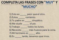 "E-Learning For All: Aprender Espanhol Online: O Uso De ""Muy"" E ""Mucho""..."