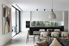 modern dining area + kitchen