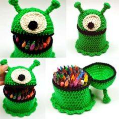 crochet alien container