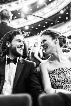 Kit Harington and Rose Leslie at the Olivier Awards 2016