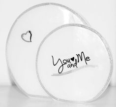 Hochzeitskerze You and Me Plates, Tableware, Anniversary, Wedding Day, Candles, Licence Plates, Plate, Dinnerware, Dishes