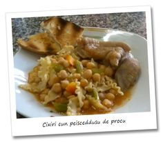 Chickpeas with pig's trotters.  Here to you the revisitation of a versatile recipe of Sardinia tradition. Poor ingredients that gave back this dish rich and tasty, ideal for cold season. Instead,it's a cool and light dish without the pig's trotters, ideal for the hot months too. Try it!