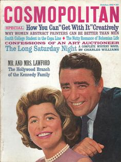 Cosmopolitan magazine, OCTOBER 1961 Peter & Patricia Lawford on cover.