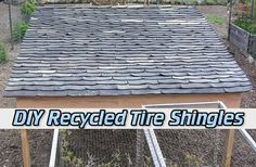 DIY Recycled Tire Shingles Read HERE --- > http://www.livinggreenandfrugally.com/diy-recycled-tire-shingles/