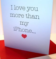 "@Heather Flythe, a Valentine's Day card from Tripp...Chris's to me would say ""my Samsung Galaxy S2""!!!"
