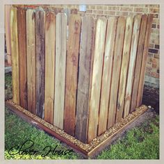 Clover House: Fence Picket A/C Unit Cover - Also a great way to keep the puppies and kids away from the unit