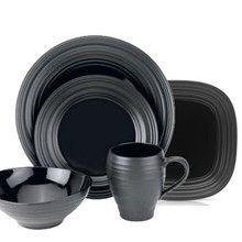 Mikasa Swirl Black Dinnerware 39.95