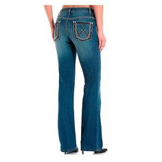 Wrangler Premium Denim Boot Cut Women/'s Jean/'s 09MWZDO