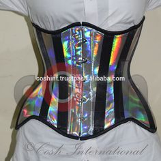 Holographic Steel boned Curvy Corset Supplier, View holographic corset, coshintl.com Product Details from COSH INTERNATIONAL on Alibaba.com