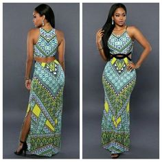 African Print Dresses, African Wear, African Attire, African Dress, African Fashion, Fashion Women, Moda Afro, Dashiki Dress, Casual Dresses