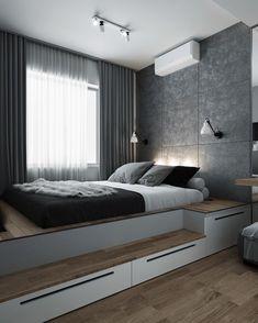 Small Room Design Bedroom, Small Bedroom Interior, Bedroom Furniture Design, Modern Bedroom Design, Room Ideas Bedroom, Home Room Design, Apartment Interior, Home Decor Bedroom, Small Modern Bedroom