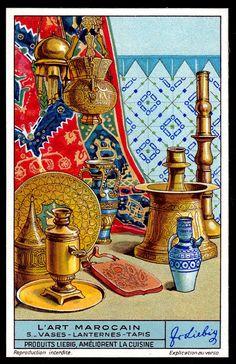 Marrakesh, Decoupage Tins, Moroccan Art, Jolie Photo, Vintage Travel Posters, Islamic Art, Art Studios, Sculpture Art, Art Deco