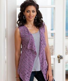 Drapey Crochet Vest Crochet Pattern | Red Heart
