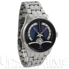 Mira Classic Merveille De L'Espace Dual Retrograde Black Mother of Pearl Automatic Men Watch M103SBK