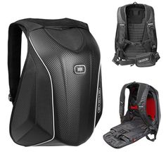 Ogio Mach 5 Zero Drag Aerodynamic Motorcycle Hardshell Backpack Black Carbon Fib…
