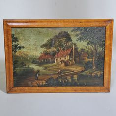 """Early 19th century Naive Painting - Oil on Board  Width: 21.5"""" / 52 cm Height: 15"""" / 38 cm"""