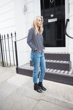 5ddbe240b57c  Topshop. See more. The iconic breton gets an effortlessly cool update with  straight jeans and leather heeled ankle boots