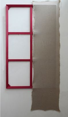 Anna Glinkina Untitled 0.13 2016 80x160 cm frame, linen, acrylic, wall pin Start Again, Anna, Frame, Wall, Home Decor, Picture Frame, Decoration Home, Room Decor, Walls