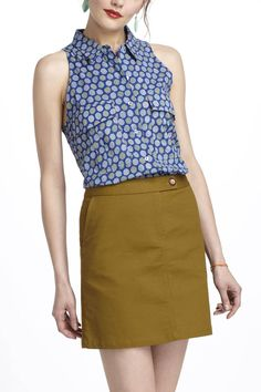 Bought for work. Summer Affairs Buttondown - Anthropologie.com size 6 by Porridge