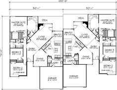Granny pods handicap Floor Plan First Story Round House Plans, Dream House Plans, Modern House Plans, Small House Plans, Duplex Floor Plans, House Floor Plans, Granny Pods, One Level Homes, Duplex Design