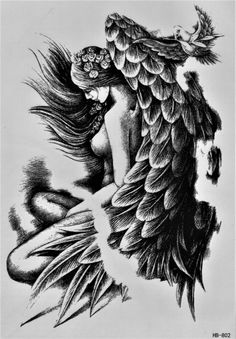 Take pleasure in the tattoo design you select. Before you pick your angel tattoo design, be sure you learn all the various designs and meanings. Most angel tattoo designs include things like shading and detail. Dream Tattoos, Badass Tattoos, Time Tattoos, Body Art Tattoos, Tattoo Drawings, Sleeve Tattoos, Sexy Tattoos, Skull Tattoos, Foot Tattoos