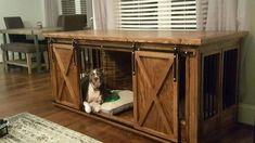 Get furniture dog kennel plans. A designer dog crate piece is an incredible inve. Get furniture dog kennel plans. A designer dog crate piece is an incredible invention as it allows Dog Crate Table, Wood Dog Crate, Dog Crate Pads, Dog Crate Cover, Dog Crate Furniture, Diy Dog Crate, Dog Kennel Cover, Diy Dog Kennel, Furniture Plans