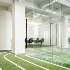 Perfect stylization for Onefootball Headquarter by TKEZ architectur & design